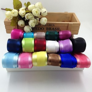 5m/lot 2.5cm Silk Tulle Organza Ribbon For Gift Cake Balloon Packaging Wedding Birthday Party Decor Crafts Packing Supplies(China)