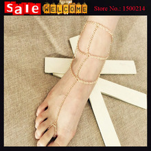 Foot Jewelry Infinity Blessing Wish Bohemia Multi-layer Barefoot Sandal Anklet Toe Ring Foot Ankle Chain for Women Wholesale