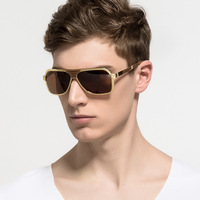 HD Space Metal Rimless Polarized Sunglasses Man Gradient Color Mirrored Glasses For Women Classic Blue Lens