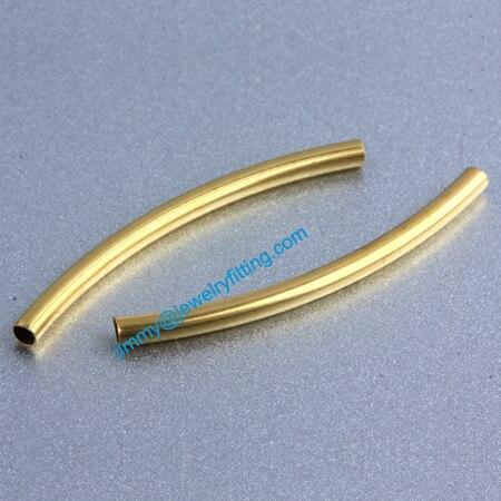 Ювелирных изделий из латуни металлическая трубка бусины спейсерной бусины трубка бусины для изготовления ювелирных изделий 2 * 30 * 0.12 мм