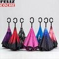 Paraguas coche Refugios 26 Colores Inversa de Doble Capa Paraguas paraguas Invertido Más Estrecho Espacio a prueba de Viento Creativo A6017