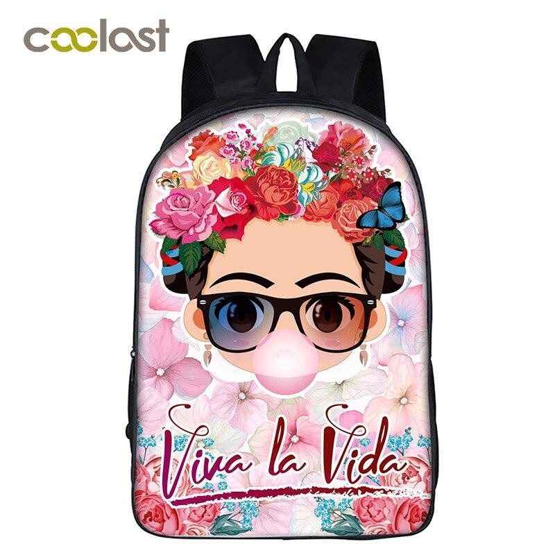 Frida kahlo/Monroe/Hepburn Rucksack für Teenager Mädchen Schule Taschen 2018 Frauen Reise rucksack Laptop Rucksack mochila escolar