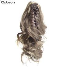 مقطع ذيل حصان قصير مجعد OUBECA في قطع شعر مستعار من ألياف الشعر الاصطناعية ذات درجة حرارة عالية