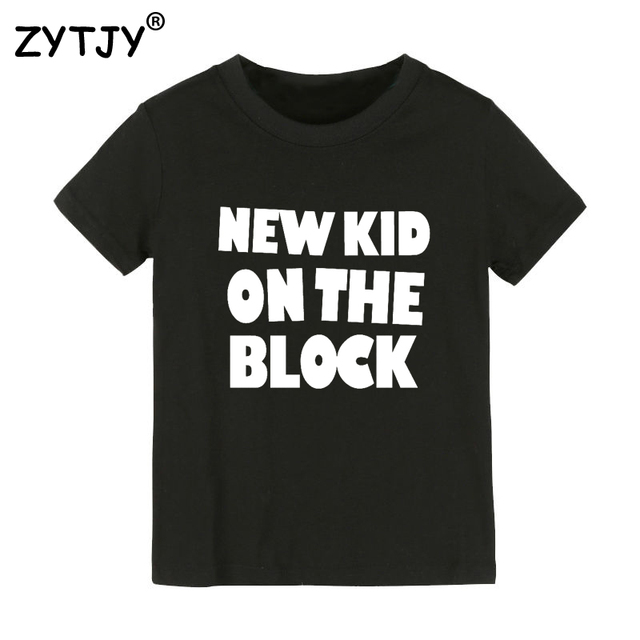 0a2b8d35b000 New kid on the block Letters Print Kids tshirt Boy Girl t shirt For  Children Toddler Clothes Funny Top Tees Drop Ship Y-82