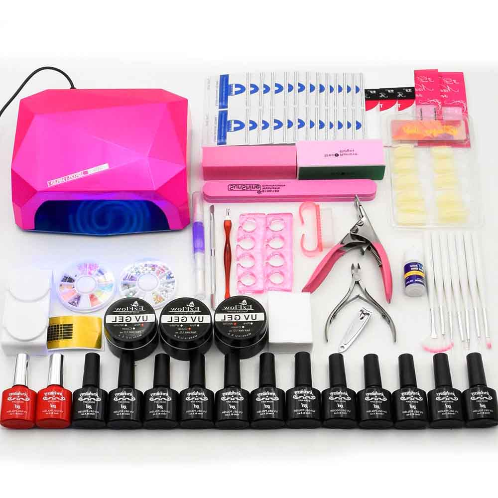 Nail Set Lasting Gel Nail Polish Kit 36W UV LED Lamp Dryer 12pcs Nail Gel Polish Soak Off Manicure Tools Set For Nail Art Tools