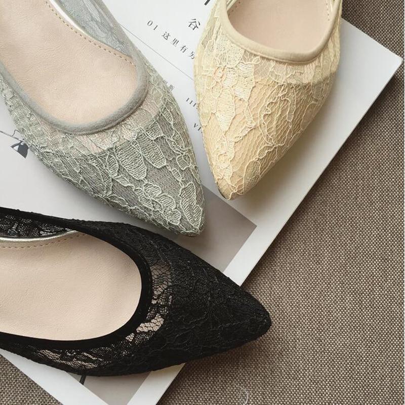 Nouveau Côté gris Mode Casual Appartements Vide Femmes Chaussures Bout amp; D'été Taille Plat Confortable Grande Clair Noir Bateau jaune Pointu T7TAO