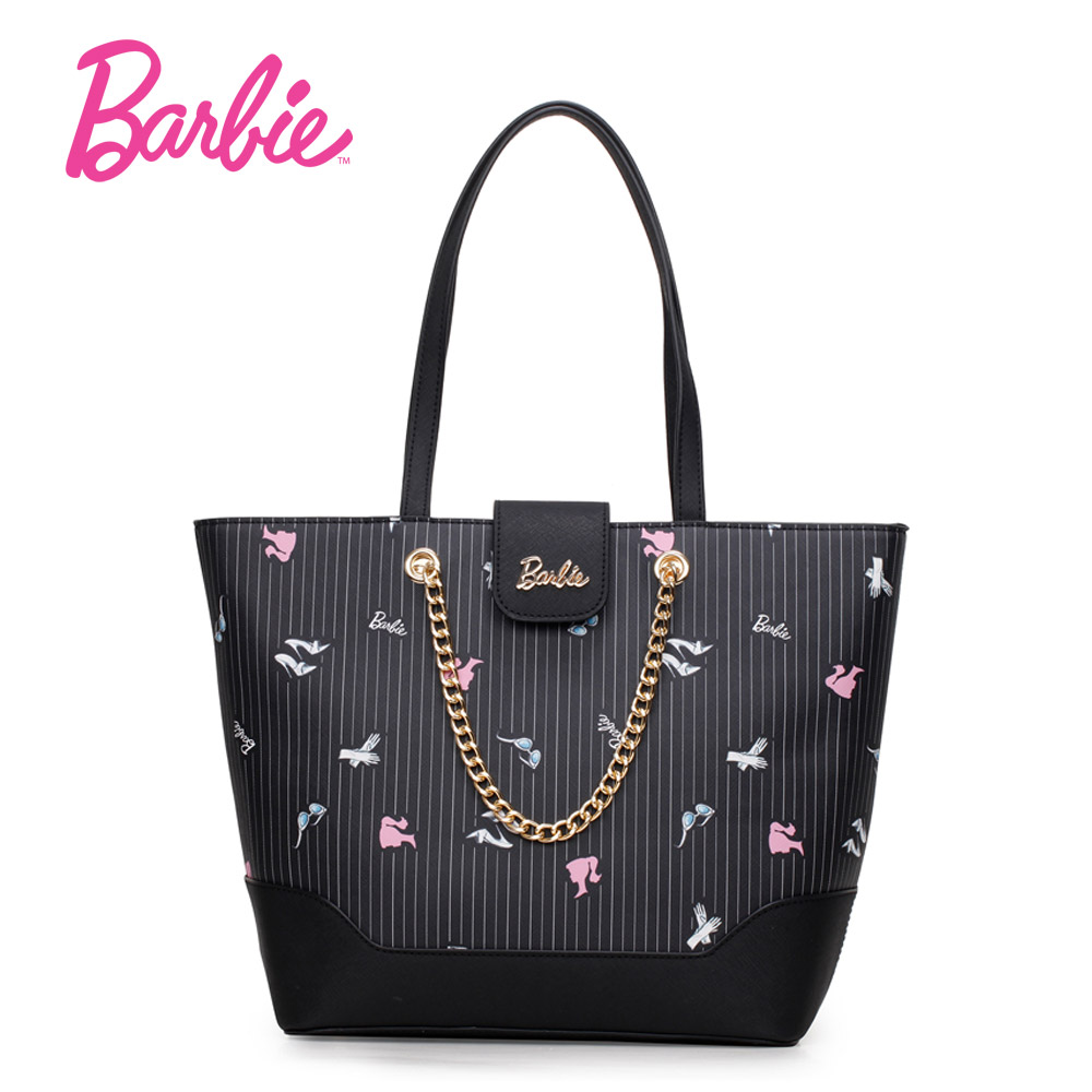 Barbie 2017 Women's Bags black PU Leather ladies big handbag fashion Bag Crossbody Bags for women simple styel Large volume hot sale ladies classic handbag big volume casual bag for women fashionable