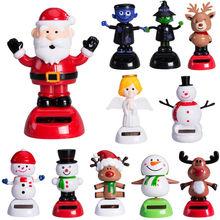Pudcoco 뜨거운 크리스마스 장식 선물 할로윈 솔라 전원이 플립 플랩 춤 꽃 장난감 홈 데스크 자동차 태양 광 장난감 재미 있은 완구