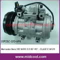 (A0002302411 ; 0001323880)AUTO AC compressor for Mercedes Benz 190 W201 2.0 82'>93' ; CLASE E W124 93'>95'