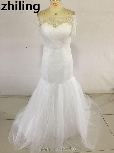 Aliexpresscom Buy Newest Off Shoulder Short Sleeves Wedding Dress