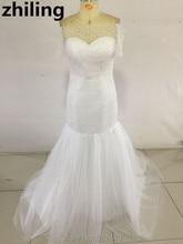 Newest Off Shoulder Short Sleeves Wedding Dress 2016 Mermaid Wedding Dresses Bridal Gown Custom Size Color