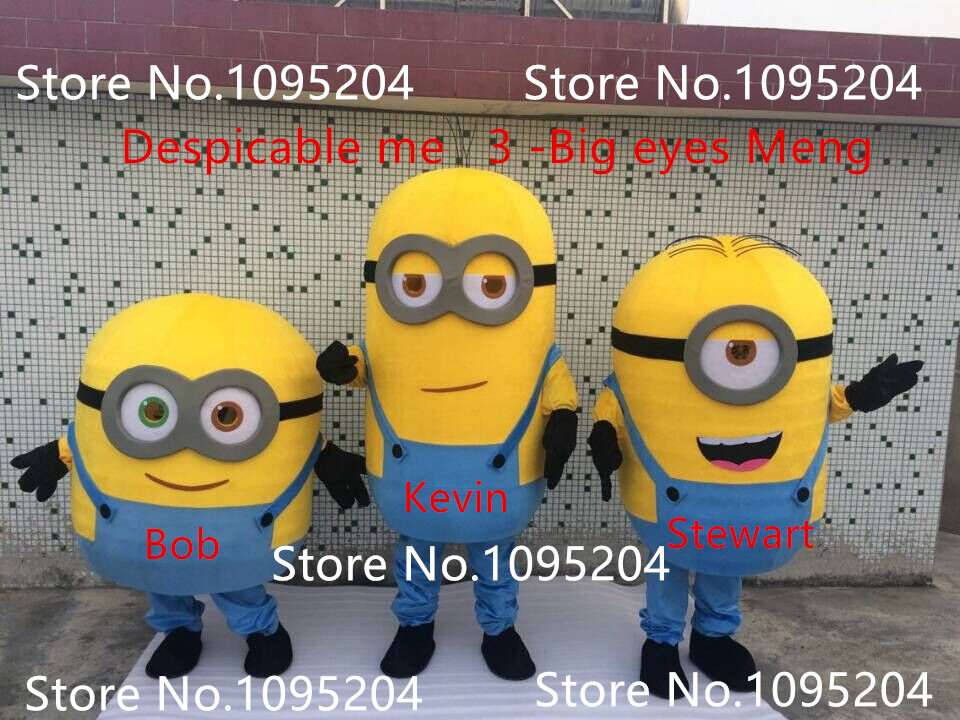 Cartoon Kevin Minions And Stewart Minions Bob Mascot Costume Free Shipping! Despicable  Me Mascot Costume In Anime Costumes From Novelty U0026 Special Use On ...