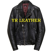 YR!Free shipping.Pakistan sheepskin.Brand Luxury biker style leather jacket,mens fashion slim tanning genuine leather coat,motor