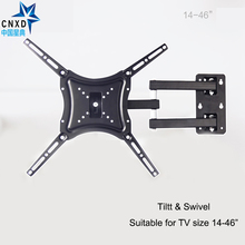 Retractable Full Motion TV Wall Mount Bracket Stand Adjustable Arm Fit for Plasma Flat LED 14-46 Support 25KG