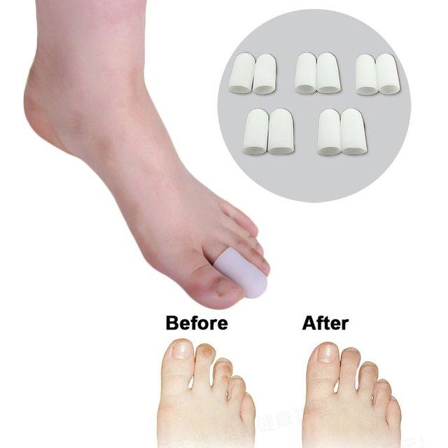 10 Pcs Tubo de Gel protetor Do Dedo Do Pé e Separadores Do Dedo Do Pé gel  de silicone a Almofada do dedo do pé Proteger Calos Calos para Palmilhas Pés  ... b6d6aa7c662c5