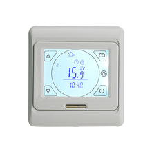 220V 16A LCD programmable digital room floor heating thermostat touch screen temperature controller warming floor thermocouple