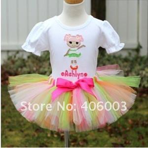 baby mix color halloween baby nylon chiffon lace little girls skirts