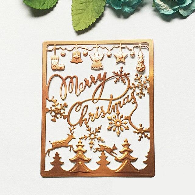 Carbon Steel Merry Christmas Trees Bells Embossing Cutting Dies ...