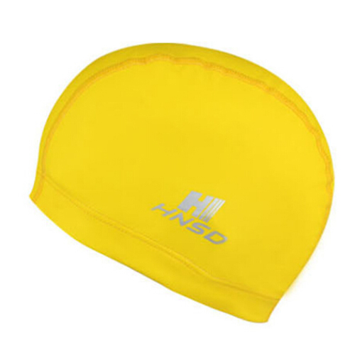HNSD PU Cover Protect Ear Long Hair Waterdrop Swimming Caps yellow