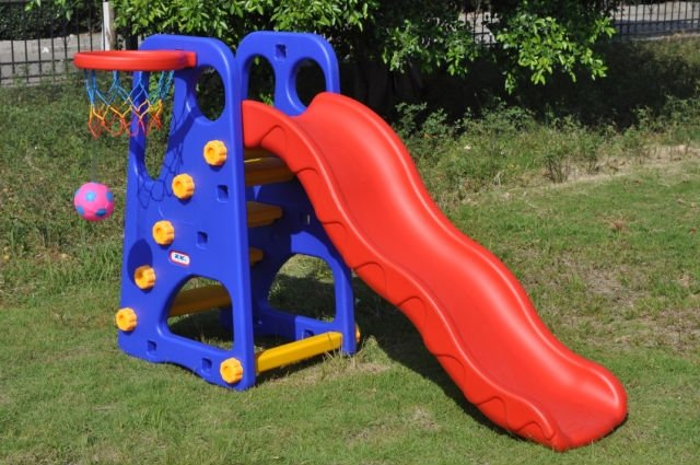 Best selling indoor playground plastic slides outdoor for Indoor play slide