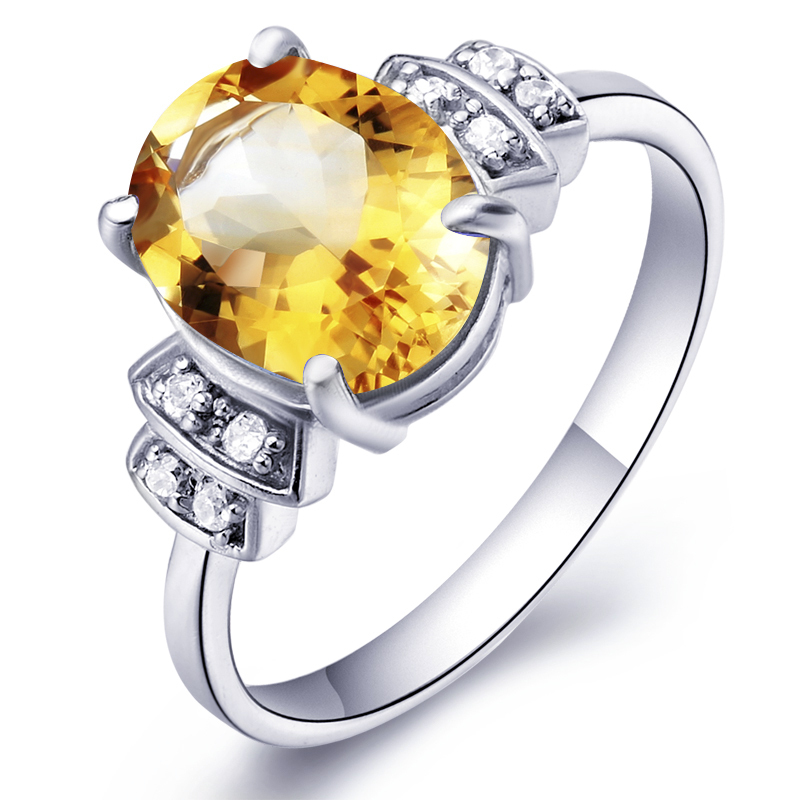 Natural Citrine Ring 925 Sterling Silver Yellow Crystal Woman Fashion Fine Elegant Jewelry Queen Lux Birthstone Gift sr0191c все цены