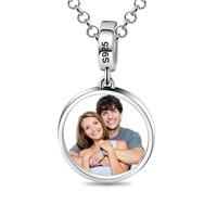 Groothandel Customed Love Forever Ronde Foto Hanger Sterling Zilveren Ketting Best gift