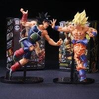 Dragon Ball ZOKEI 5 Son Gokou VS Barduck PVC Action Figures Collectible Model Toys 2pcs/set 22cm