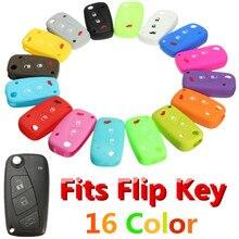 Car Key Case Silicone Cover for FIAT /Panda /Stilo /Punto /Doblo /Grande /Bravo 500 Ducato /Minibus 3 Buttons Luminous