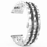 Для samsung Galaxy Watch 42mm 46 мм/Active 40 мм диапазона Нержавеющаясталь браслет 20 мм 22 мм для Шестерни S3/S2 классический ремень