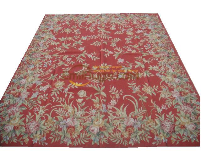 Pure Hand Woven Wool Carpet French Aubusson Rugs 244cmx305cm 8 X
