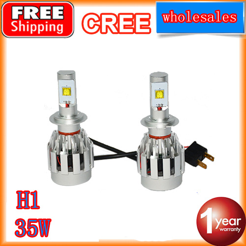 2016 new all in one led headlight kit h1 35w led kit 4400lm replacement hid kit for car high beam headlight