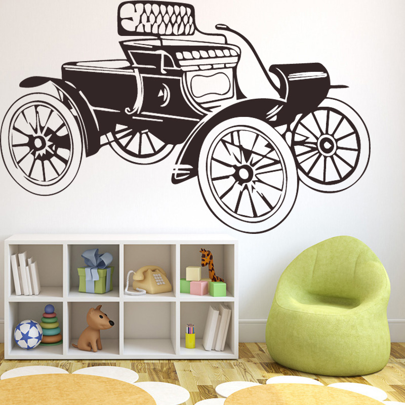 Antediluvian Automobile Wall Sticker Self Adhesive Vinyl Waterproof Wall Decal Removable Wall Stickers DIY PVC Home Decoration