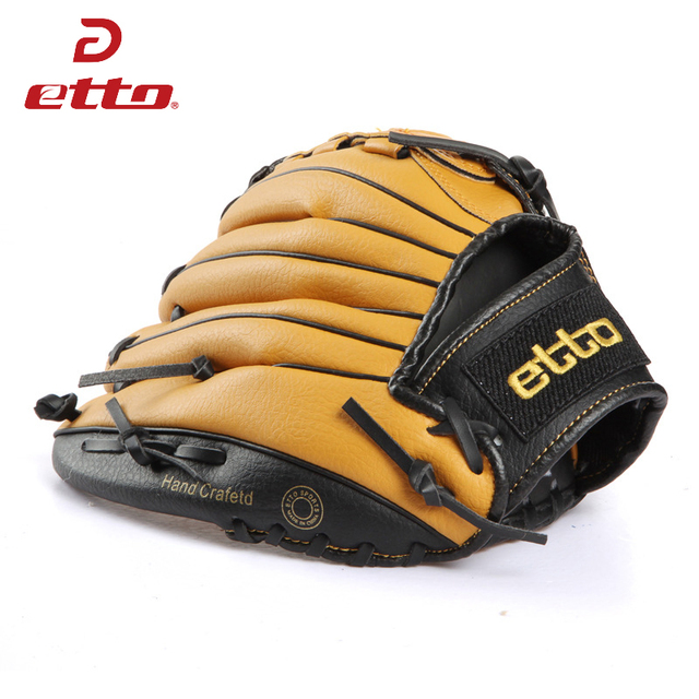 Etto New Top Quality Men Professional Baseball Glove Right Hand Male Beisbol Training Glove Kids For Match Softball HOB002Y 3