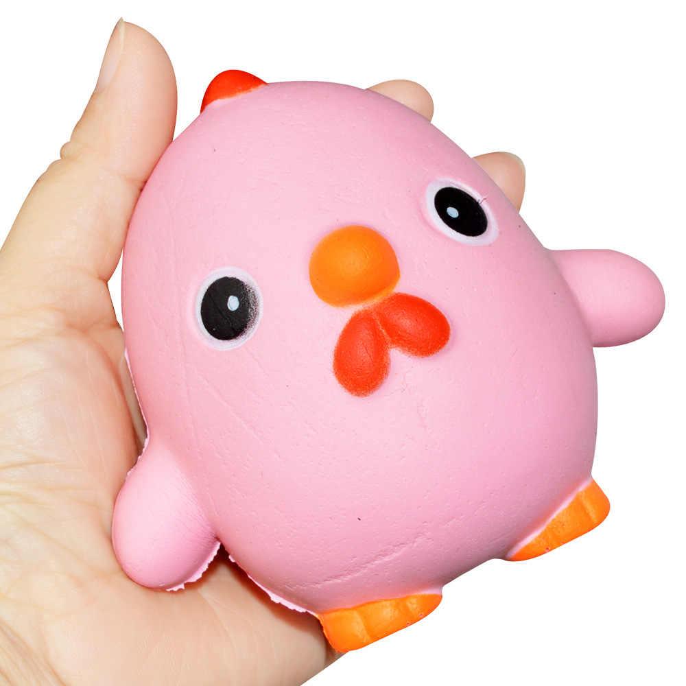 רטוב איטי עולה הפגת מתחים לסחוט בובת ורוד דוחן עוף Squishies צעצועי עבור תינוק ילדי מתנת חידוש צעצוע Squishies 1 pcs