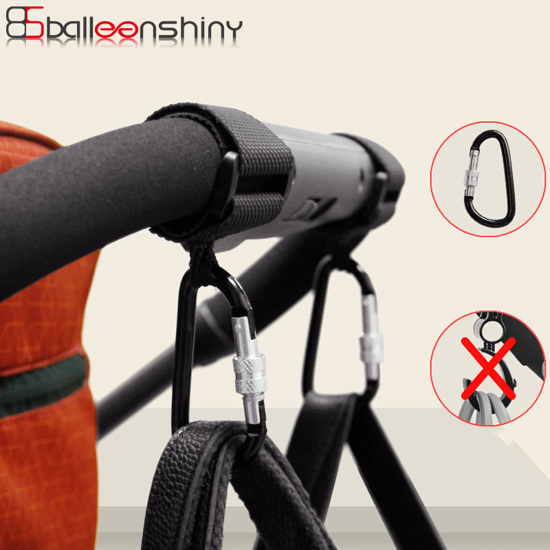 BalleenShiny1pc Baby Stroller Accessories Multi Purpose Baby Stroller Hook Shopping Pram Hook Props Hanger Metal Convenient Hook(China)