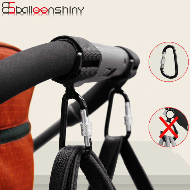 BalleenShiny1pc Baby Stroller Accessories Multi Purpose Baby Stroller Hook Shopping Pram Hook Props Hanger Metal Convenient Hook