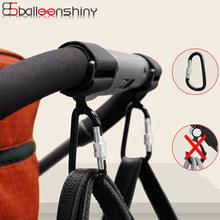 BalleenShiny 1pc akcesoria dla wózków dziecięcych uniwersalny hak wózka dziecięcego wózek na zakupy hak Prop wieszak metalowy wygodny hak tanie tanio STAINLESS STEEL KD5407 7-9Y 4-6 M 4-6Y 2-3Y 10-12Y 19-24 M 7-9 M 13-18 M 0-3 M 10-12 M 40kg Baby Stroller Hooks Aluminum alloy