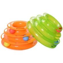 Игрушка для кошек роликовые игрушки для кошек 3 уровня треки ролик с тремя красочными шариками интерактивный котенок забавные ментальные физические игрушки для упражнений