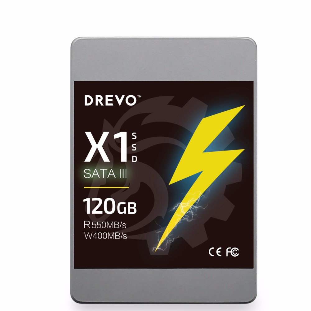Drevo X1 SSD 120GB Solid State Hard Drive 2.5inch SATA III Internal Disk SATA3 for laptop+ 3.5inch Mount Bracket for PC Desktop hot sale 1pc hard disk drive mounting bracket kit for playstation 3 ps3 slim cech 2000 fw1s for ps3 slim hard drive bracket