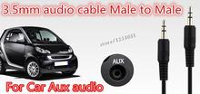 3.5mm to 3.5mm Car Aux audio Cable Extended Audio Auxiliary Cable Male to Male for MP3 MP4 PC Free Shiiping 50cm