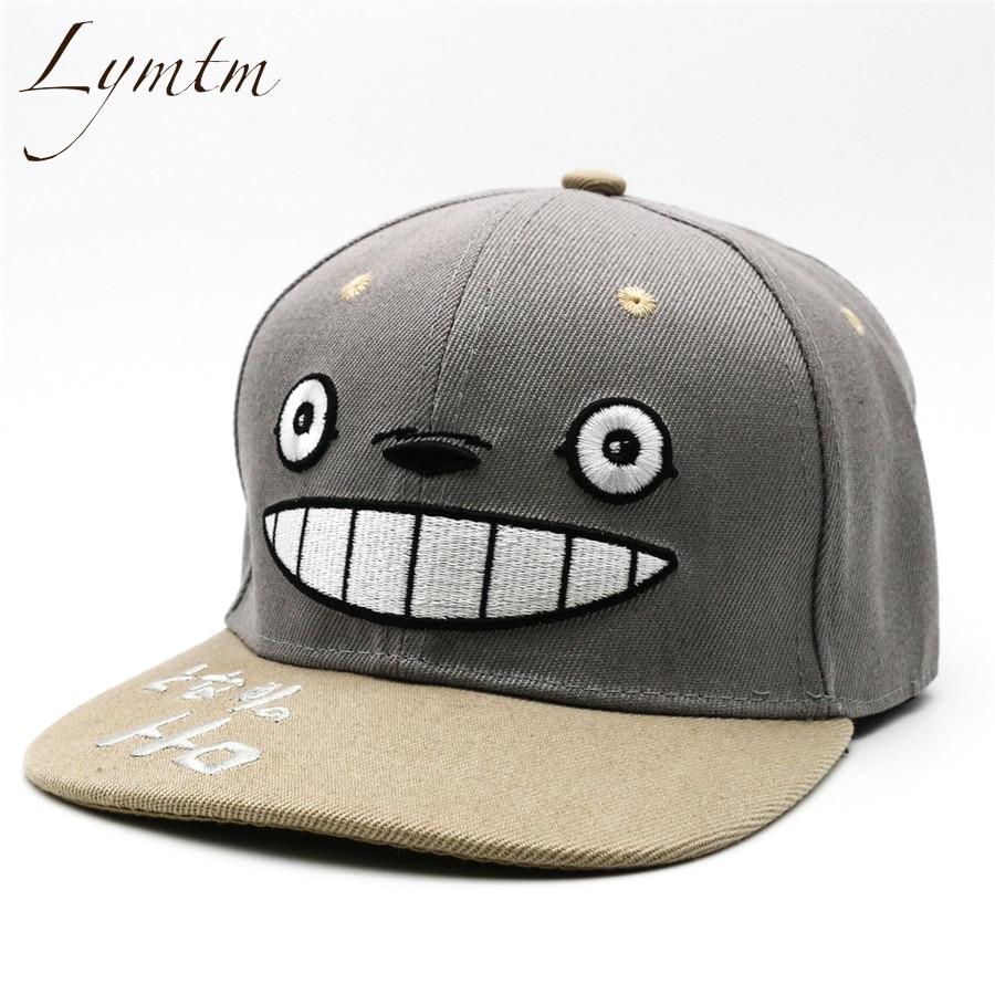 [Lymtm] 2018 Anime Totoro Embroidery Hat Lovely   Baseball     Cap   Summer For Men Women Snapback   Caps   Unisex Hip Hop Gorra Casquette