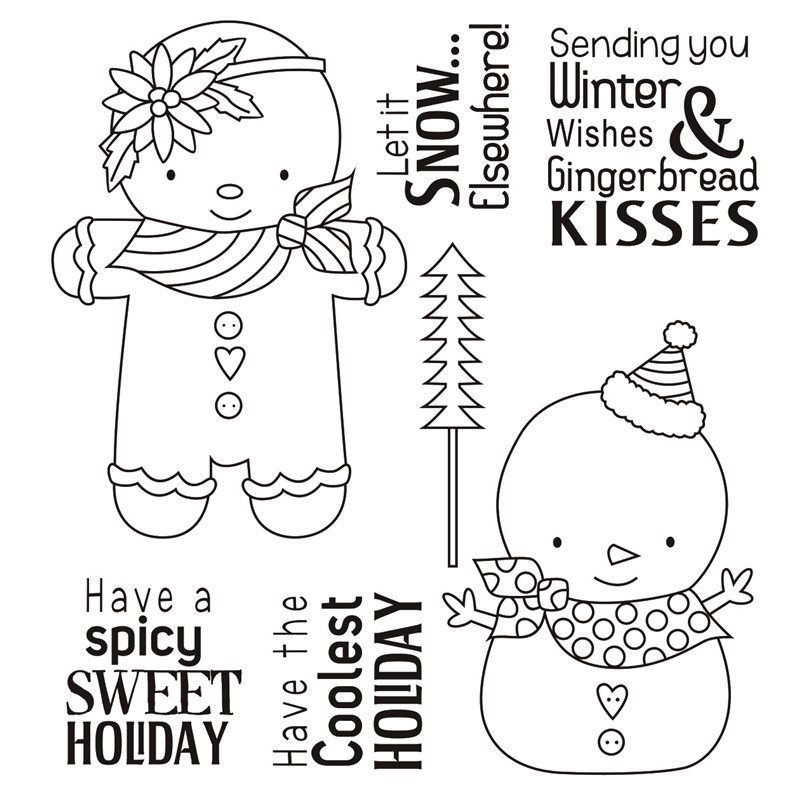 Transparent Rubber Silicone Clear Stamps for Scrapbooking