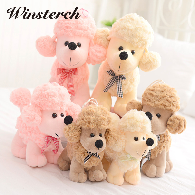 2017 New Hot Sale Simulation Plush Dog Poodle Toy Lovely Children presents Stuffed Animals Dolls Cute Gift Toy Stuffing WW29