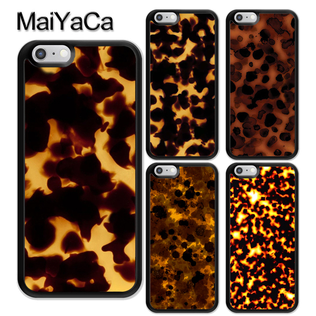 purchase cheap b8e24 fdc1f US $3.02 5% OFF|MaiYaCa Tortoise Shell Marble Pattern Rubber Phone Case For  iPhone 6 6S 7 8 Plus 5 5S SE X XR XS MAX Coque Funda Cover Shell-in Fitted  ...