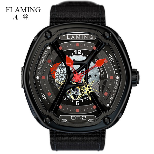 FLAMING Dietrich Series Fashion 1969 Organic Time OT-2 Red Watches Men Luxury Wristwatches with Miyota 82S7 Auto Movement Gifts flaming lips flaming lips this here giraffe ep