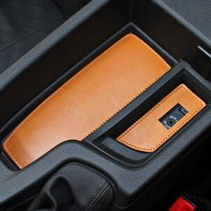 Image 1 - 12 uds, almohadilla con ranura para puerta de coche, taza de agua, posavasos, caja de almacenamiento, Cubierta acolchada para BMW 5 Series F10 2014 2015 2016 2017
