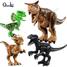 NEW Jurassic Dinosaurs World 2 Parks Tyrannosaurs Rex Carnotaurus Indoraptor Building Blocks Figures Toys Compatible Major Brand(China)
