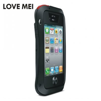 Original LOVE MEI Shock Dust And Water Proof Metal Protective Case For Iphone 4 4S With