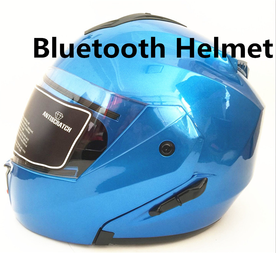 flip up motorcycle helmet multifunction full face helmet dual lens  with Bluetooth headset M L Xl XXL 2017 winter new yohe cross country full face motorcycle helmet yh993 abs motorbike helmets with scarf warm size m l xl xxl