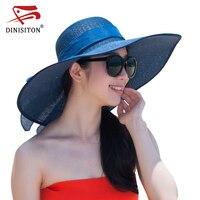 DINISITON Designer Sommer Sonnenhut Für Frauen Stroh Weaver Sonnencreme Übergroßen Krempe Wowan Weibliche Sun Caps Neue Ankunft S1W012318